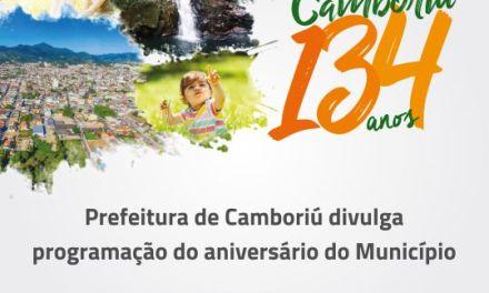 Prefeitura de Camboriú divulga programação do aniversário do Município