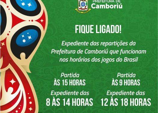 Prefeitura de Camboriú define expediente em dias de jogo da seleção na fase de grupos da Copa do Mundo