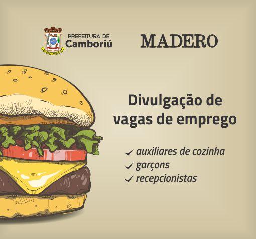 Jovem Aprendiz de Camboriú e Madero divulgam vagas de emprego