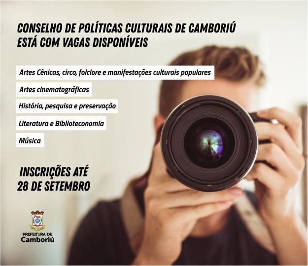 Conselho de Políticas Culturais de Camboriú está com vagas disponíveis