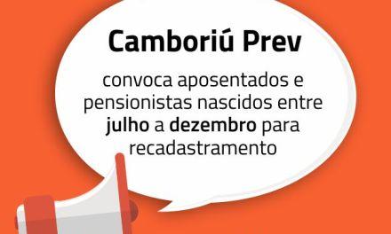 Aposentados e pensionistas do Camboriú Prev nascidos entre julho e dezembro devem atualizar cadastro