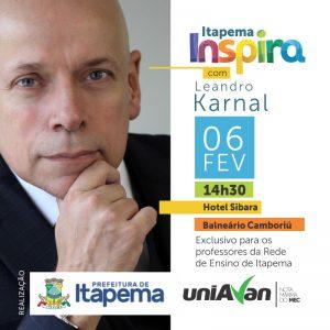 Palestra com Leandro Karnal vai abrir ano letivo para professores de Itapema