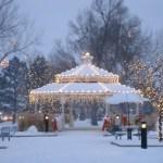 Parker's Gazebo in O'Brien Park at Christmas Photo credit: Facebook