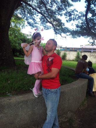Juan Carlos and his daughter