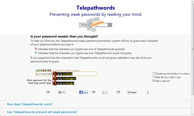 Watch Telepathwords guess the next character of your password