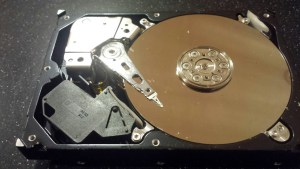 Hard drives with damaged parts need to be opened in a clean room environment to prevent dust and other contaminants from damaging the surface of the drive.