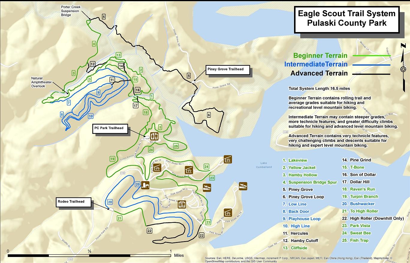 image regarding Door County Map Printable named Path MAP Pulaski County Park