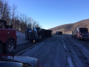 High winds hamper I-77 truck traffic