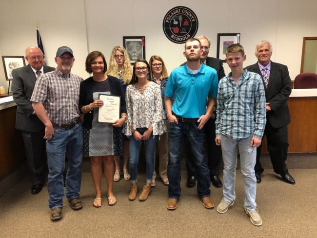 Bryson selected as Pulaski County Schools Employee of Month