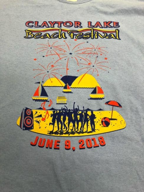 Get your Claytor Lake Festival T-shirts Saturday