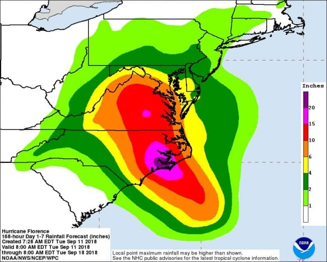 Surge, wind, rain, floods: Hurricane Florence could hit hard