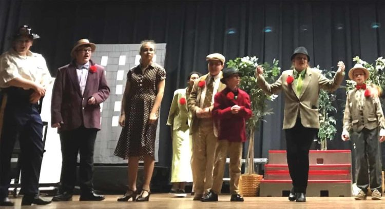 Middle school theater students combine forces on 'Guys and Dolls, Jr.'