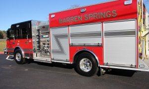 Barren Springs Volunteer Fire Department gets new fire truck