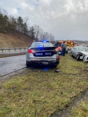 Two Troopers injured in I-81 crash in Wythe County