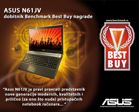 ASUS N61JV Multimedia Notebook - Benchmark Best Buy