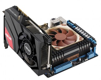 PR ASUS GeForce GTX 670 DirectCU Mini on mini ITX motherboard