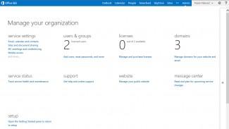 Slika 1. Office365 Admin Dashboard
