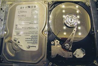 Voda je prodrla do mehanike hard diska
