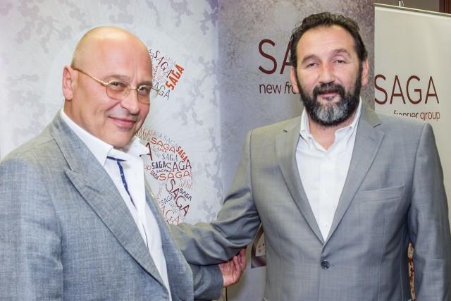 Goran Đaković, predsednik kompanije i Igor Pavlica, generalni direktor  i predsednik odbora izvršnih direktora kompanije Saga
