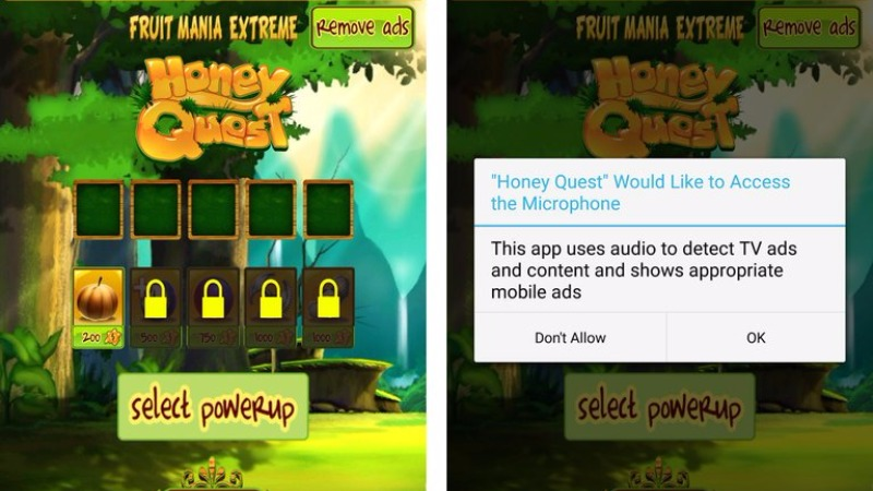 honey quest mobilni android igre prisluškivanje