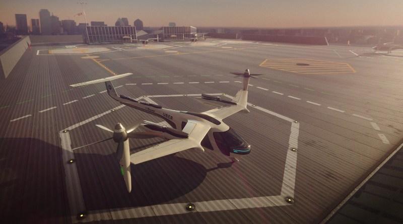 Uber leteći taksi taxi plane concept