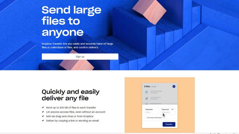 Dropbox Transfer allows you to send up to 100GB of files – shilfa