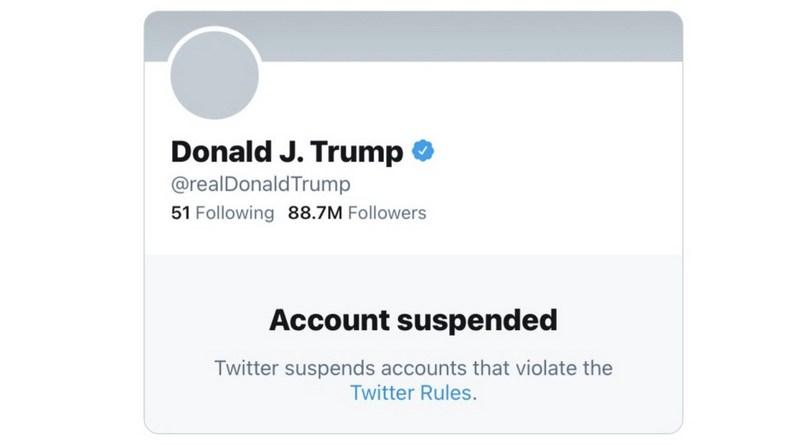 twitter zatvorio trampov nalog
