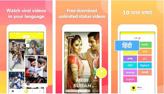 4fun – funny video, status for whatsapp, share & chat