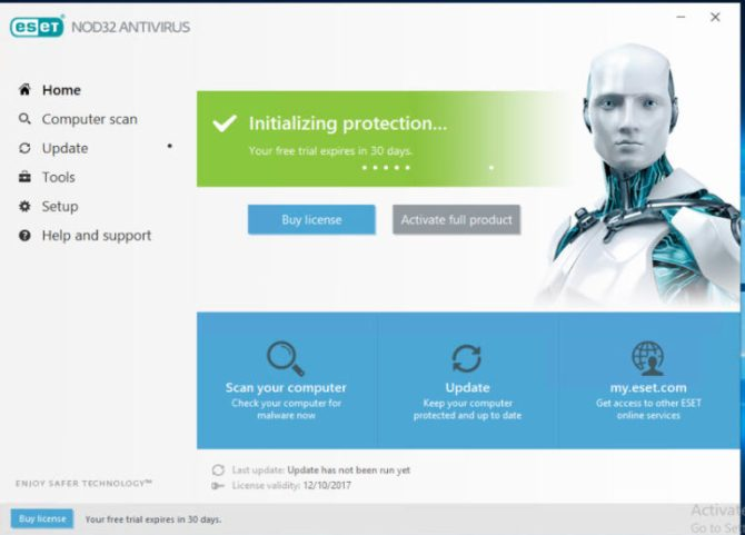 ESET NOD32 Antivirus 11 license key full version