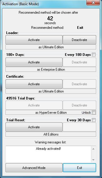 Windows 7 All Versions Any Build Activator