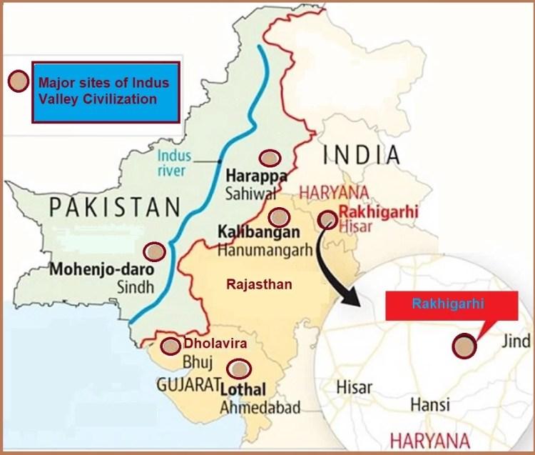 major sites of Indus valley civilization