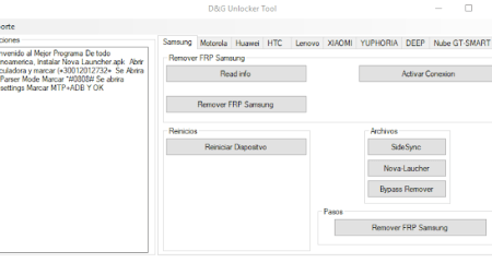FRP Lock Removal Software Tool Free Download For Windows