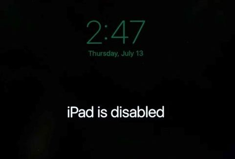 Your Ipad is disabled