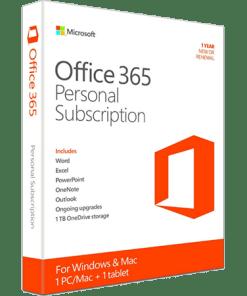 Microsoft Office 365 Personal 1-PC/MAC 1 year