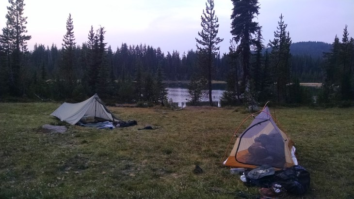Camping at Sisters Mirror Lake