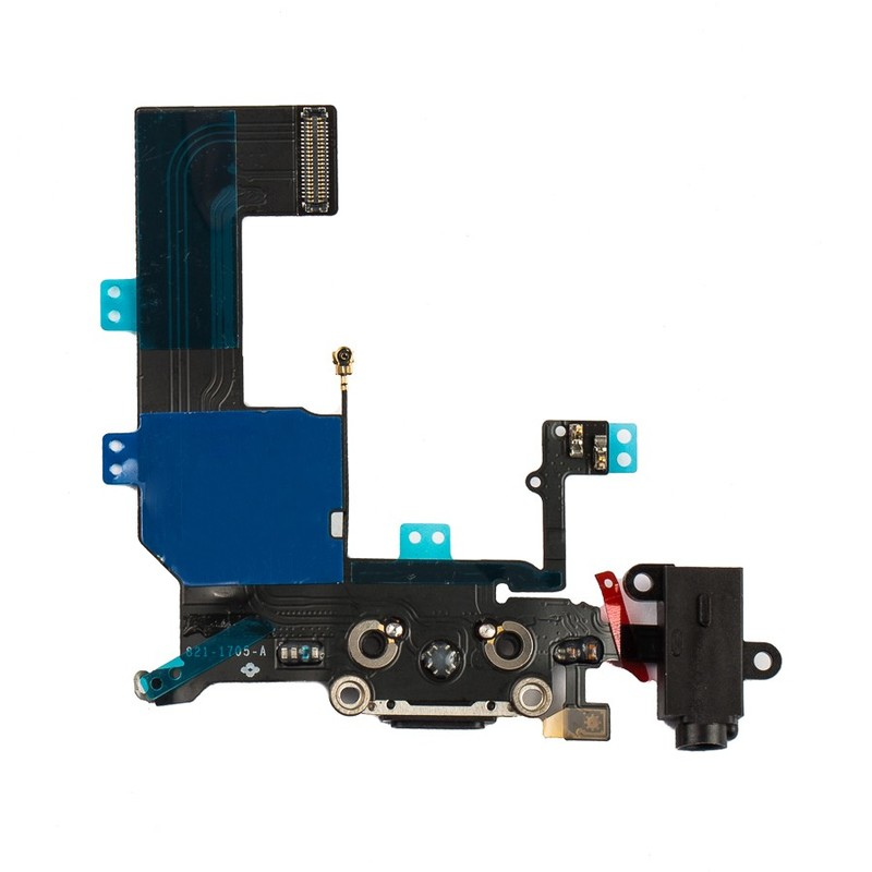 the latest 7bbcf 5a496 iPhone 5c Charging Port & Headphone Jack Flex Cable – Black