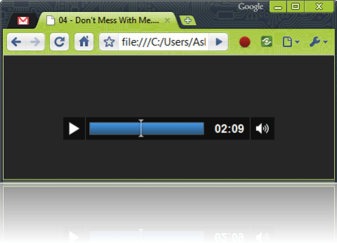 Google Chrome Music Player