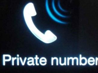 numéro inconnu, numéro privé