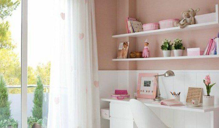 conforama chambre fille en rose pale et