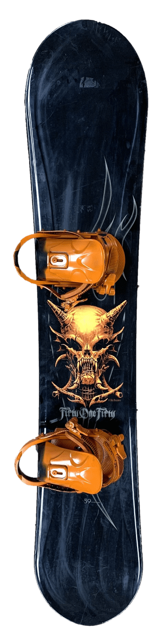 5150 Fifty One Fifty CRUX 158 cm Wide Snowboard (Wes Benscoter Design with Riva Binding)