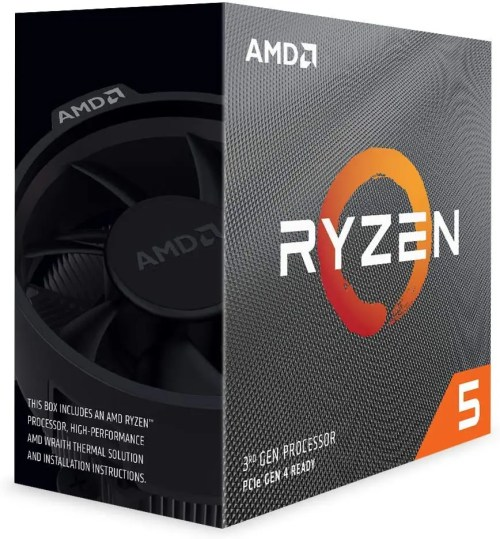 AMD Ryzen 5 3600 Desktop Processor with Wraith Stealth Cooler (100-100000031BOX)