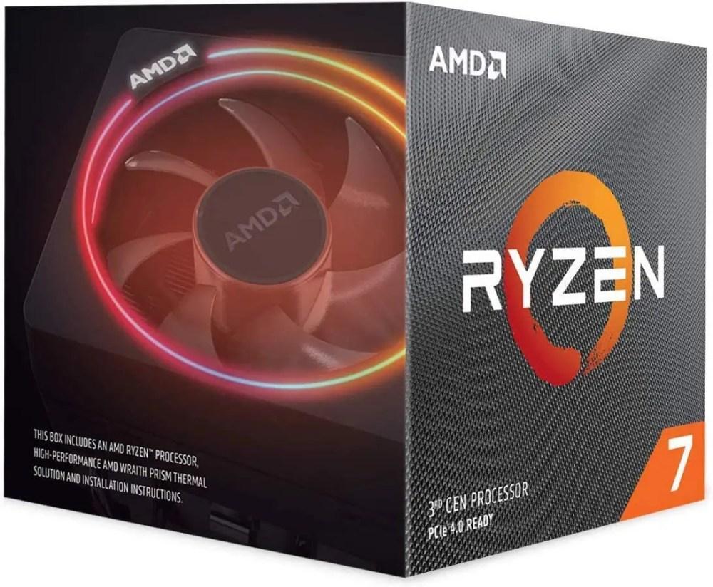 AMD Ryzen 7 3700X Desktop Processor with Wraith Prism Cooler(100-100000071BOX)