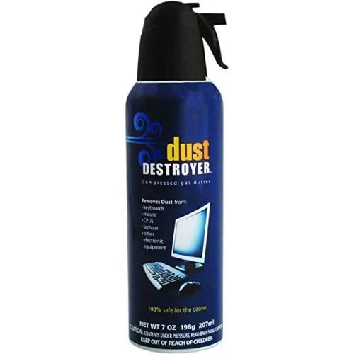 Dust Destroyer Compressed Air Duster Cleaner Spray 7 oz