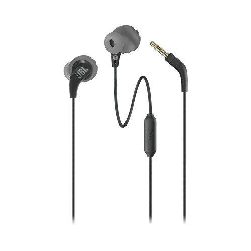 JBL Endurance RUN Sweatproof In-Ear Wired Sport Headphones (Black) (JBLENDURRUNBLK)