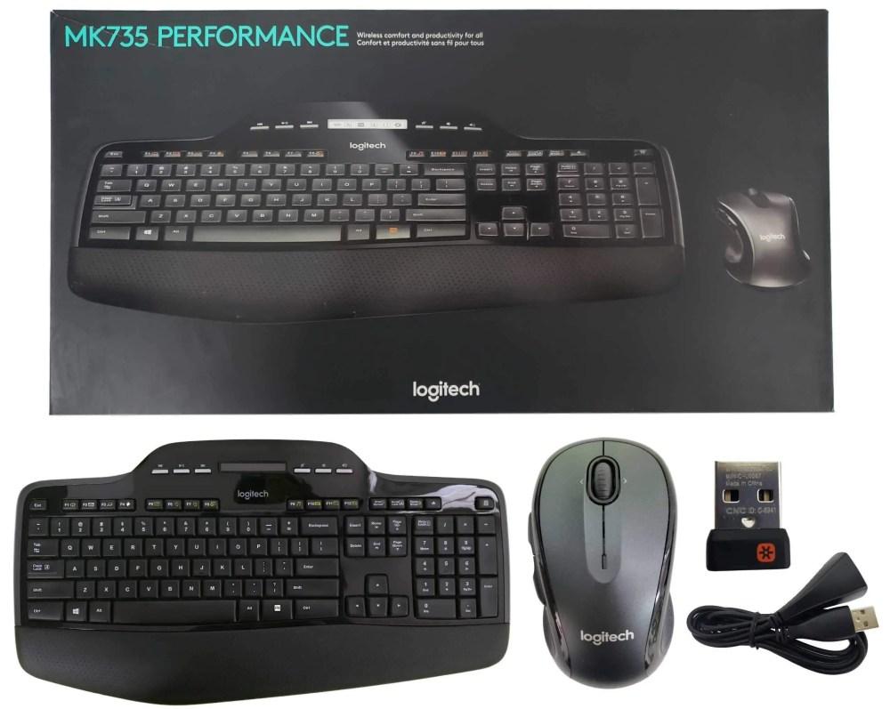 Logitech MK735 Wireless Keyboard and Mouse Combo