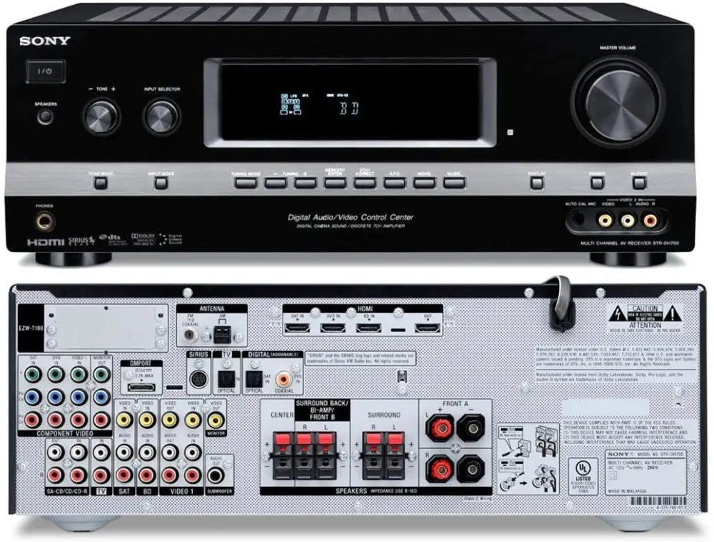Sony STR-DH700 7.1 Channel Home Theater Receiver with Remote