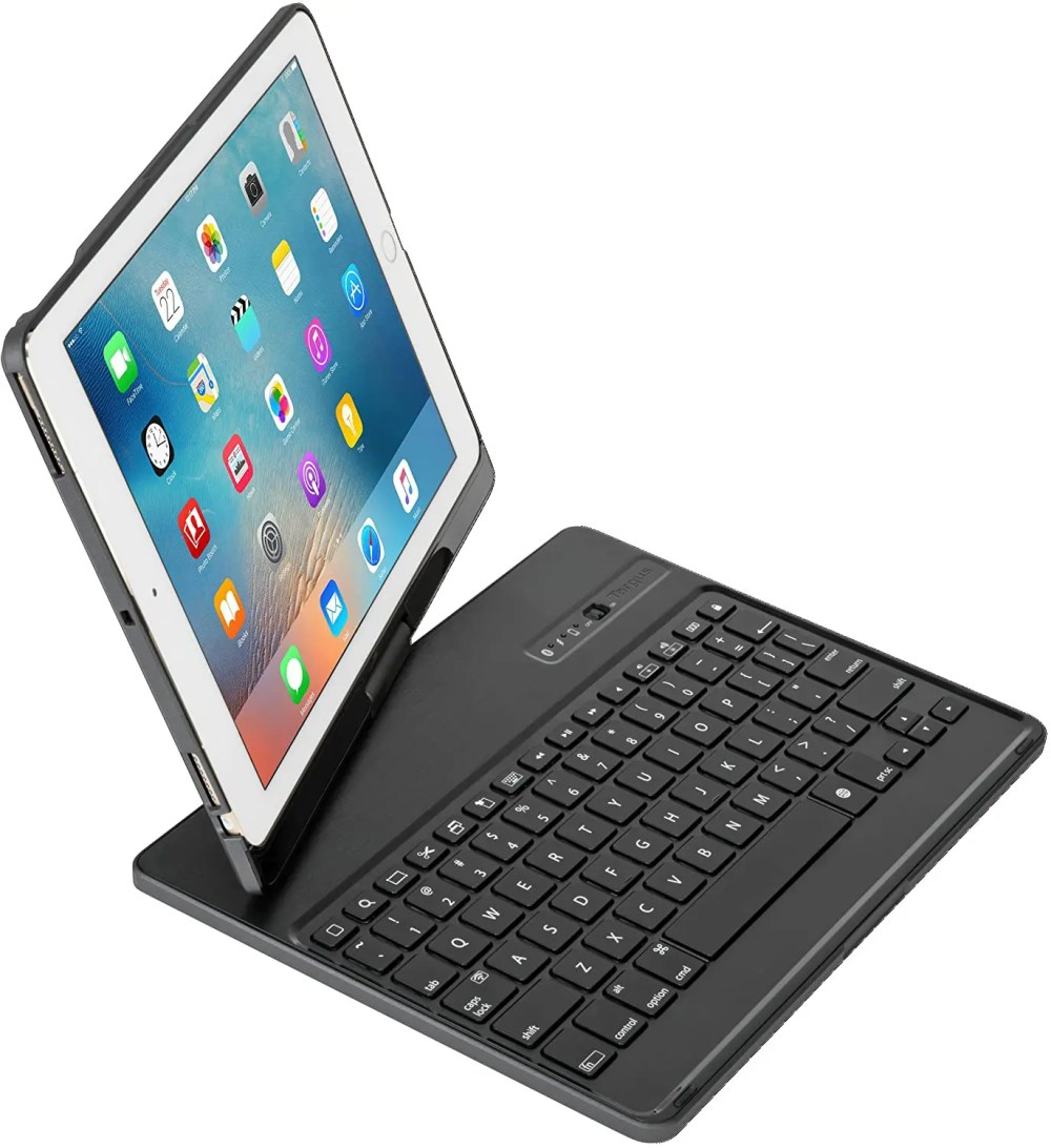 """Targus VersaType 4-in-1 Keyboard Case with Power Bank for iPad Pro 9.7"""" & iPad Air 2 2017 (Black) (THZ620CA)"""