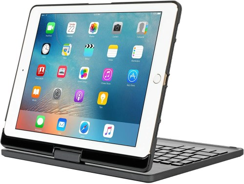 "Targus VersaType 4-in-1 Keyboard Case with Power Bank for iPad Pro 9.7"" & iPad Air 2 2017 (Black) (THZ620CA)"