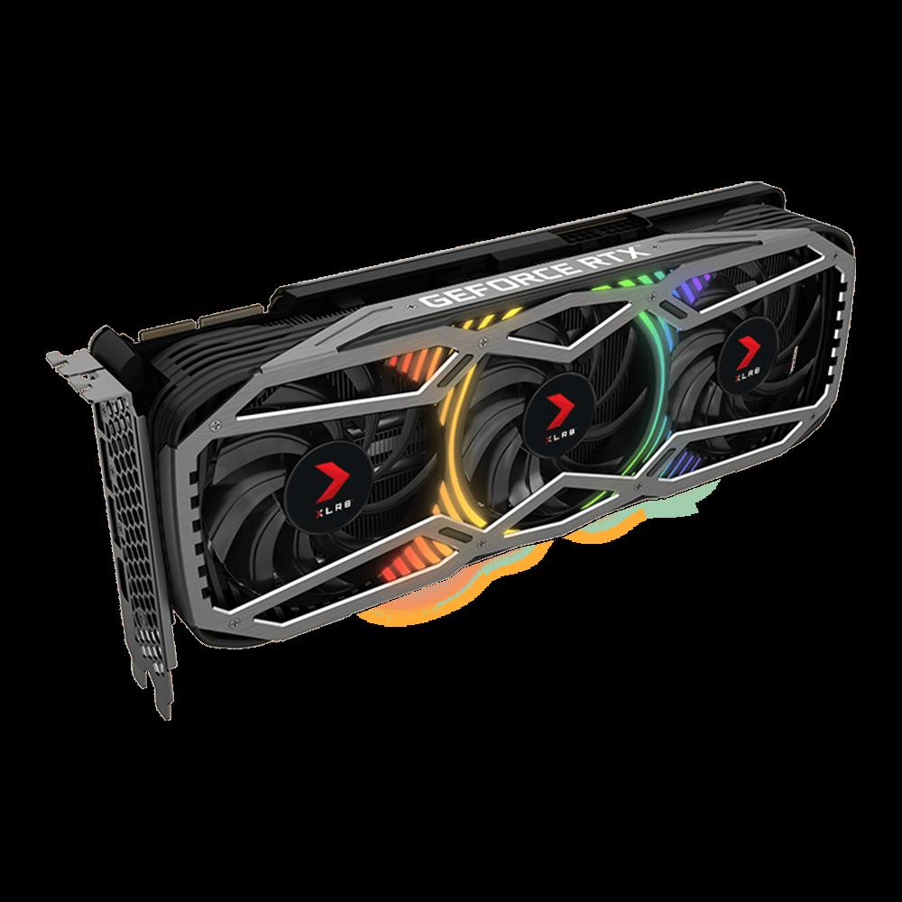 PNY GeForce RTX 3090 24 GB XLR8 Gaming REVEL EPIC-X RGB Triple Fan Edition Graphics Card (VCG309024TFXPPB)