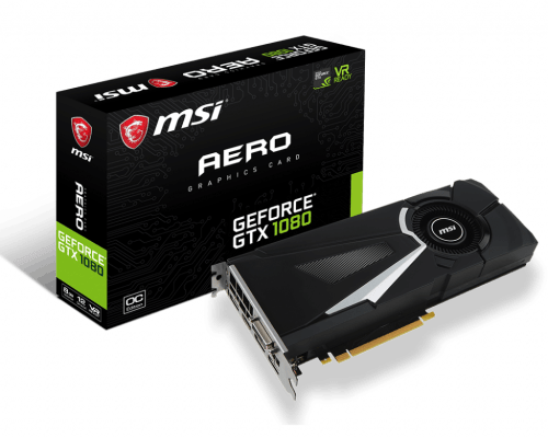 MSI GeForce GTX 1080 AERO DirectX 12 8 GB 256-Bit GDDR5X PCI Express 3.0 x16 SLI Support ATX Video Card